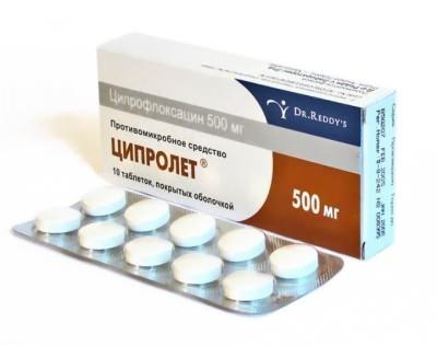 Ципролет при гаймориті: інструкція із застосування антибіотика