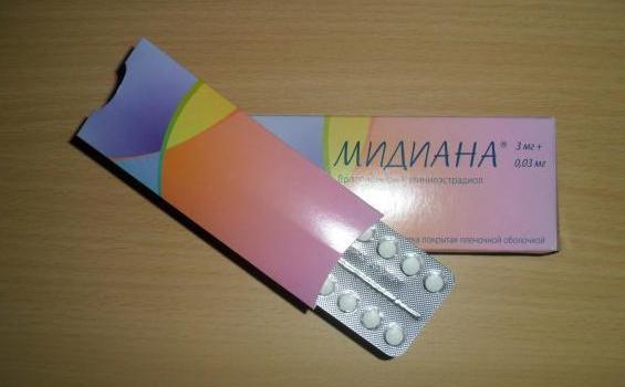 Протизаплідні таблетки Мідіана: інструкція, ціна, відгуки лікарів