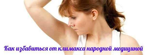 Препарати і народні засоби від пітливості при клімаксі